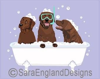 Spa Day - Labrador-Chocolate