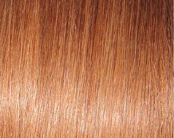 "Miss Flirty Remy Hair Extensions Clip-In 22"" Long Medium Auburn Blonde #6"