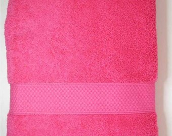 Shower 70x130cm towel cotton Terry color fuchsia pink