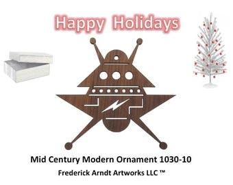 1030-10 Mid Century Modern Christmas Ornament