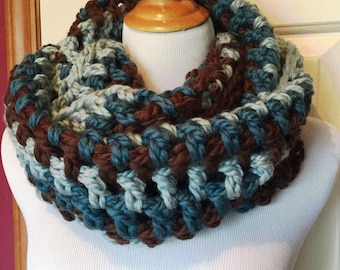 Chunky Crocheted Scarf | Crocheted Scarf