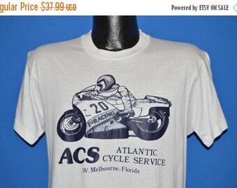 ON SALE 80s Atlantic Cycle Service Melbourne Florida t-shirt Medium
