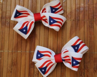 Baby Puerto Rico bows on alligator clips