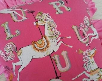 bed or couch pillow decor unicorn pillow decor pink pillow ruffle pillow