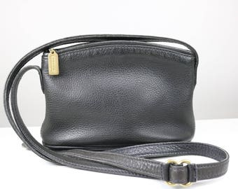 25% off Vintage 1980s Sonoma Coach Bag/ Black Pebbled Leather Coach crossbody/ Made in USA Coach #4918