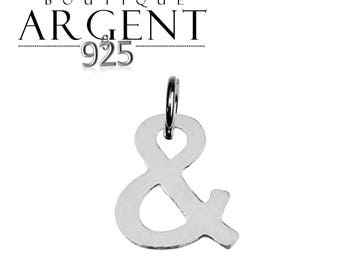 """Sterling Silver 925 11.4 X 10, 5 mm charm symbol """"and"""" Sterling Silver"""