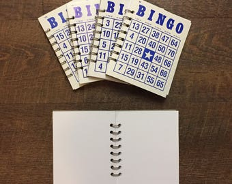 BINGO Notebook - BINGO Journal - Upcycled Bingo Card - Vintage Bingo