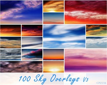 100 Cloudy And Dramatic Skies, Photoshop Overlay, Overlays, Beach Sky, Clouds Cpz154