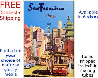 San Francisco #3 - Vintage Air Travel Poster/Print (186918347)