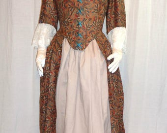 18th Century Lady's Quarter-back English Gown
