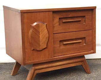 Mid-Century Sliding Door Nightstand