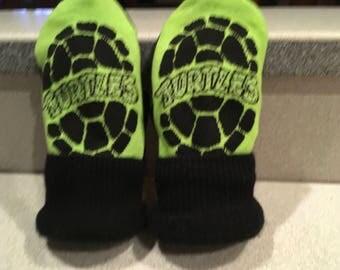 Teenage mutant ninja turtles mittens