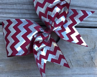 Silver Foil Chevron designs on ribbon. Available in many colors.