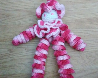 Curly Clown crocheted from vintage pattern