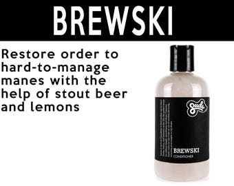 Brewski Conditioner. Fair Trade Organic Vegan Cruelty-Free Cosmetics. 5% of Proceeds Proudly Go To Grassroots Charities
