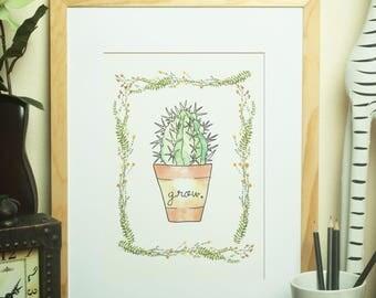 """Printable Art - Succulent Art Print  - Digital Art (Set Of 3) - Instant Download - 8""""X10"""" Art Prints - DIY - Home Decor"""