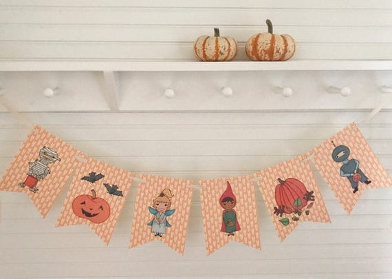 Trick or Treat Bunting for Halloween
