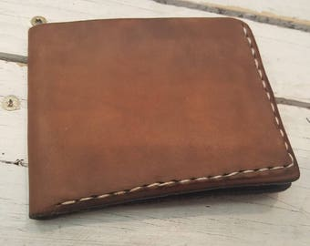 Leather wallet - mens wallet - leather bifold wallet - leather billfold - billfold mens leather wallet - slip wallet