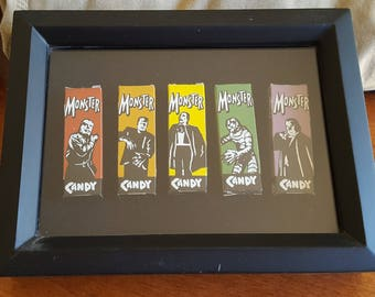 Monster Candy shadow box