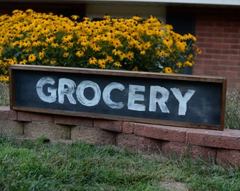 Grocery | Wood sign | STONEMILL MARKET