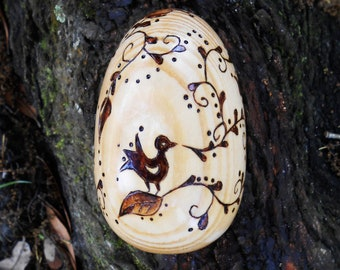 Wooden Easter Egg - Pyrography