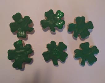 6 Fake St. Patrick's Day Sugar Cookies  (Plain/Natural Or Primitive - Perfect St. Patty's Day decorations
