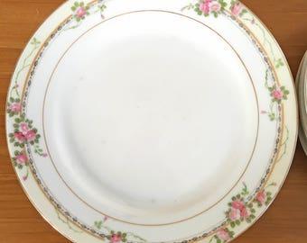 Antique Noritake Bread & Salad Plates - Set of 7