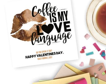 Coffee Valentines Day Card