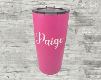 Name Decal, Vinyl Sticker, Vinyl Name Decal, Water Bottle Decal, Wine Glass Decal,  Agenda Decal, Yeti decal, Yeti Sticker