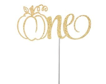 One Pumpkin Cake Topper, Fall One Cake Topper, Fall First Birthday Cake Topper, 1st Birthday Cake Topper, Little Pumpkin Cake Topper