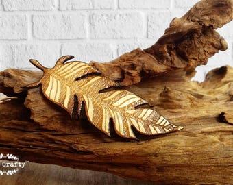 feather wooden hair clips Bridesmaid Best friend Valentine Wedding gift Rustic wedding Laser Wood feather
