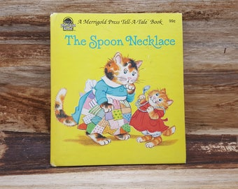 The Spoon Necklace, 1986, Tell a tale book, vintage kids book