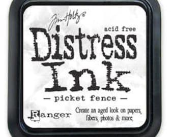 Tim Holtz Distress Ink pad 3x3 in PICKET FENCE WHITE TIM40781 1 - cc53 IP016