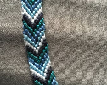 Diamond friendship bracelet- blue ombré