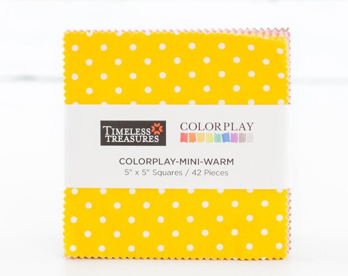 Timeless Treasures Color Play Mini Warm Charm Pack