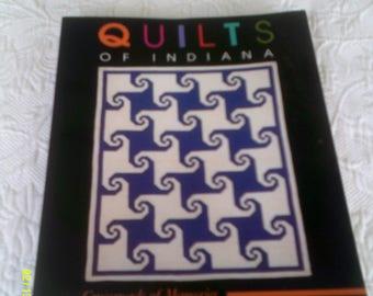 """crossroads of Memories"""", Vintage Quilt Registry Book, 1991 """"Quilts of Indiana,  Registry of Quilts, Quilting Book"""