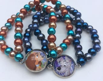 Lady and the Tramp Upcycled Bracelet