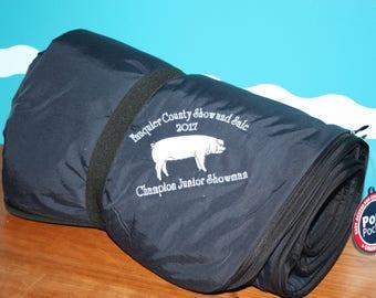Livestock Shower Award - Livestock blanket - Custom Award - Livestock shower - Livestock gift - Pig Blanket - County Fair Awards