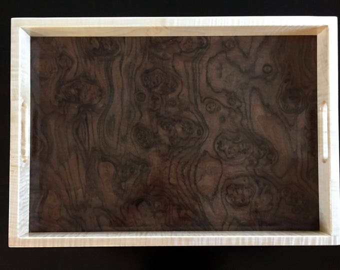 Wood Serving Tray - Curly Maple & Walnut Burl
