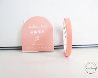 washi tape thin pastel coral orange