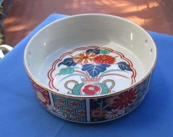 Vintage Imari Style Floral Bowl Made In Japan