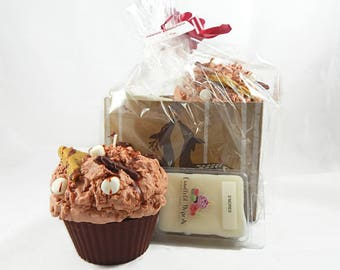 Jumbo S'mores Cupcake & Wax Melt Gift Set