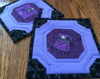 Pair of Nightmare Before Christmas (Jack only) Potholders