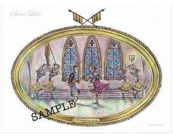 Swan Lake Ballet Bunnies postcard set B (6 cards)