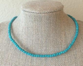 Turquoise Seed Beeaded Choker