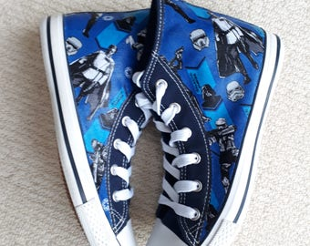 Star Wars Rogue One imperial Army Multicharacter, Hand Decorated Converse Style High Top Shoe