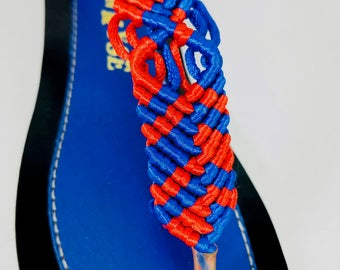 Blue T-stap Leather Sandals