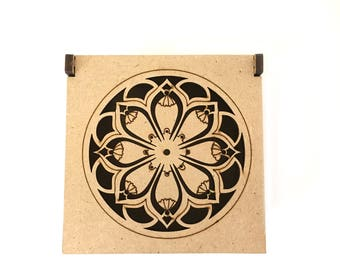 MDF Flower Mandala Box