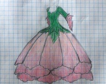 Womens Peony Fairy Costume