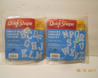Plastic canvas Letters to stitch